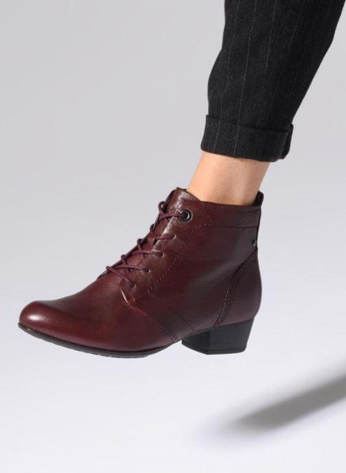 Bottines et boots Be Natural 25107 Bordeaux vue bas / vue portée sac