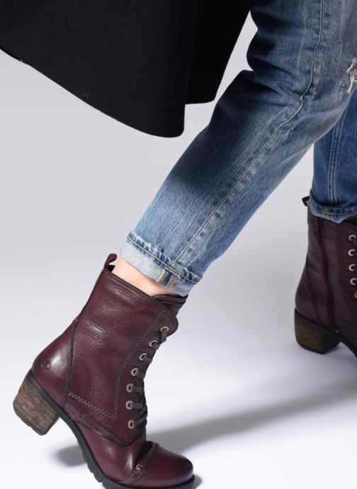 Ankle boots Be Natural 25228 Burgundy view from underneath / model view
