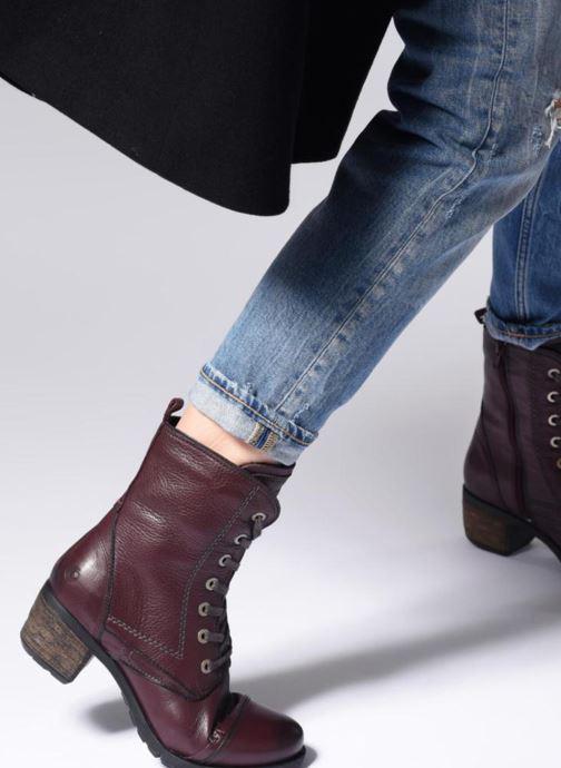 Bottines et boots Be Natural 25228 Bordeaux vue bas / vue portée sac