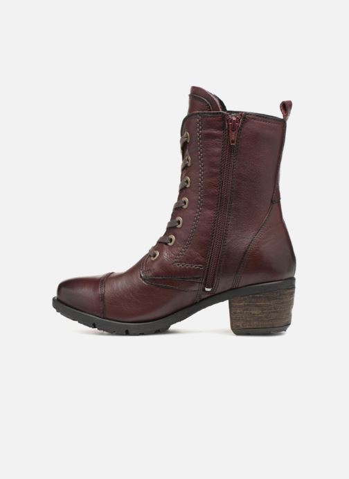 Ankle boots Be Natural 25228 Burgundy front view