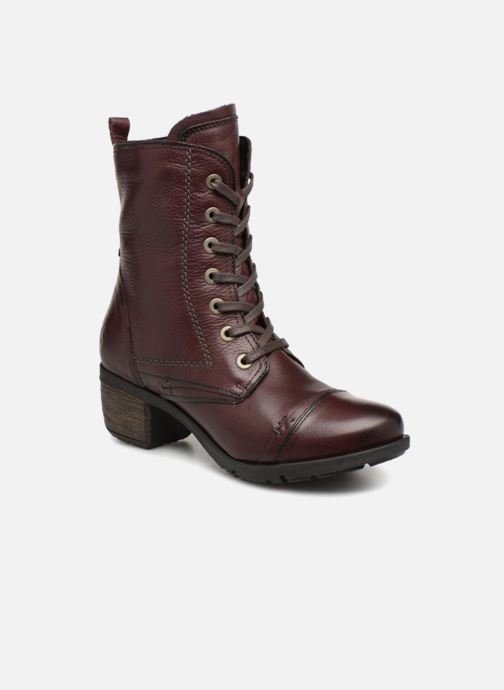 Ankle boots Be Natural 25228 Burgundy detailed view/ Pair view