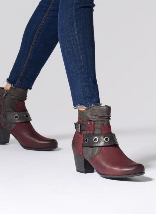 Bottines et boots Jana shoes MurrayR Bordeaux vue bas / vue portée sac