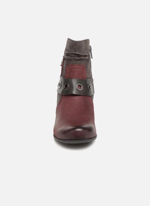 Stivaletti e tronchetti Jana shoes MurrayR Bordò modello indossato