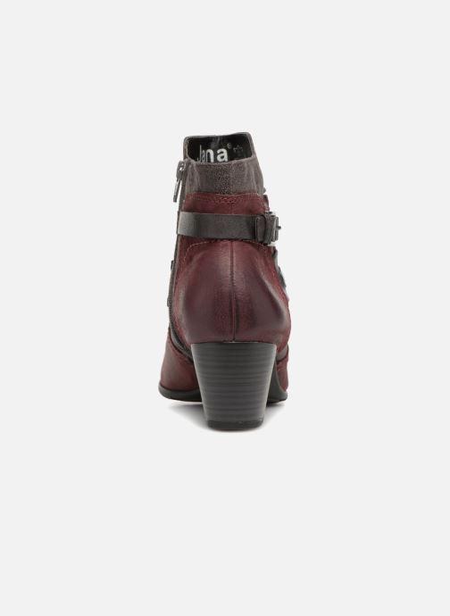 Bottines et boots Jana shoes MurrayR Bordeaux vue droite