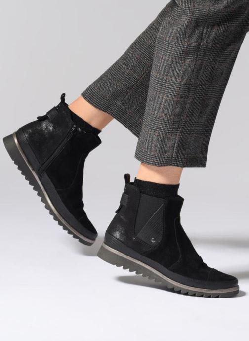 Bottines et boots Jana shoes Adore Noir vue bas / vue portée sac