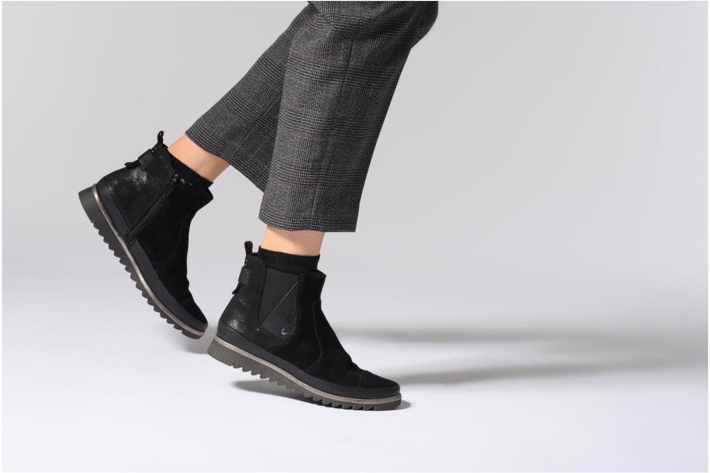 Stivaletti e tronchetti Jana shoes Adore Nero immagine dal basso