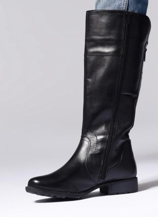 Bottes Jana shoes Dumas 25602 Noir vue bas / vue portée sac