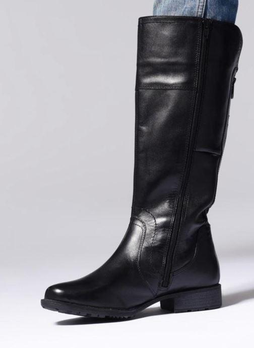 Stiefel Jana shoes Dumas 25602 schwarz ansicht von unten / tasche getragen