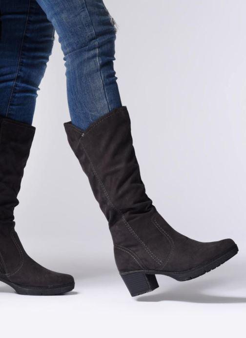 Bottes Jana shoes Minto 25662 Noir vue bas / vue portée sac