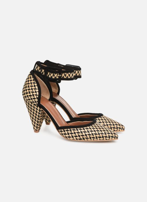 High heels Made by SARENZA UrbAfrican Escarpins #2 Beige back view