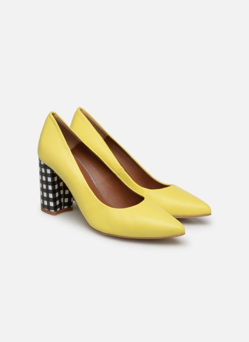 High heels Made by SARENZA Pastel Affair Escarpins #5 Yellow back view