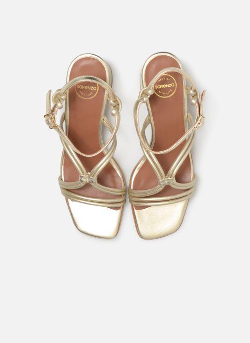Sandali e scarpe aperte Made by SARENZA UrbAfrican Sandales à Talons #3 Oro e bronzo modello indossato