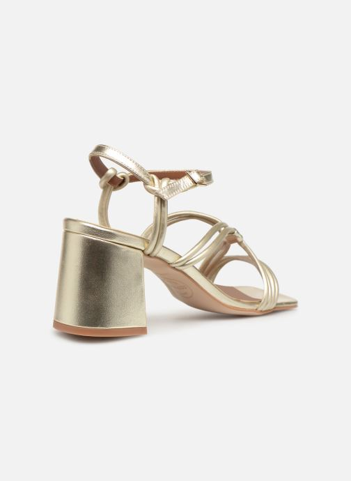Sandales et nu-pieds Made by SARENZA UrbAfrican Sandales à Talons #3 Or et bronze vue face