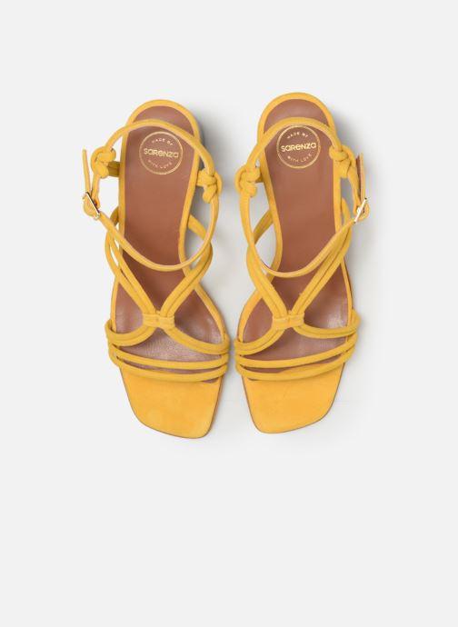 Sandales et nu-pieds Made by SARENZA UrbAfrican Sandales à Talons #3 Jaune vue portées chaussures