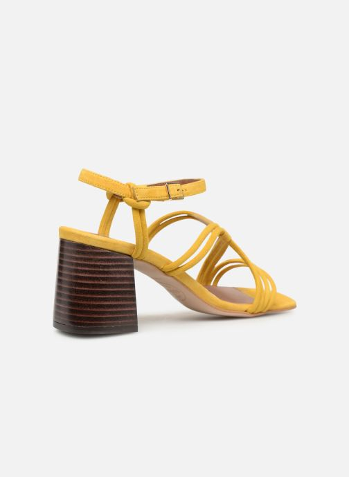 Sandales et nu-pieds Made by SARENZA UrbAfrican Sandales à Talons #3 Jaune vue face