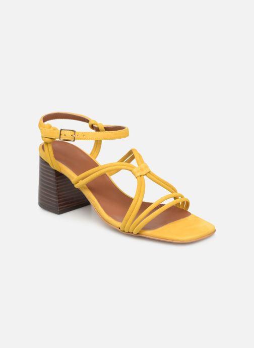 Sandales et nu-pieds Made by SARENZA UrbAfrican Sandales à Talons #3 Jaune vue droite