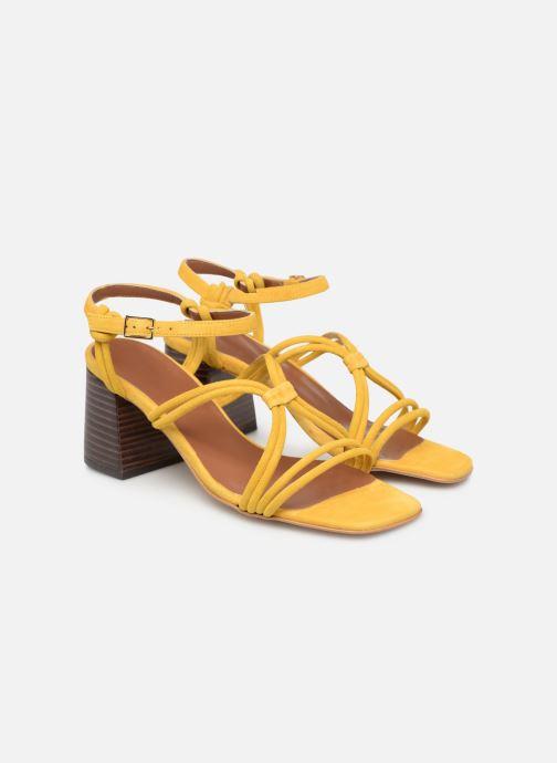Sandales et nu-pieds Made by SARENZA UrbAfrican Sandales à Talons #3 Jaune vue derrière