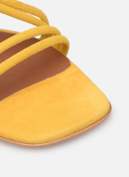 Sandales et nu-pieds Made by SARENZA UrbAfrican Sandales à Talons #3 Jaune vue gauche