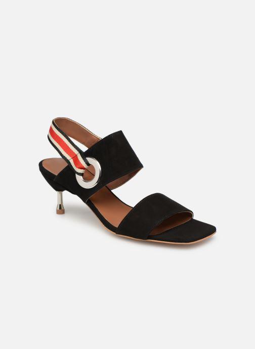 Noir Cuir Sarenza Party Sport pieds Et Sandales Made à Talons2 By Velours Nu JlK1cT3F