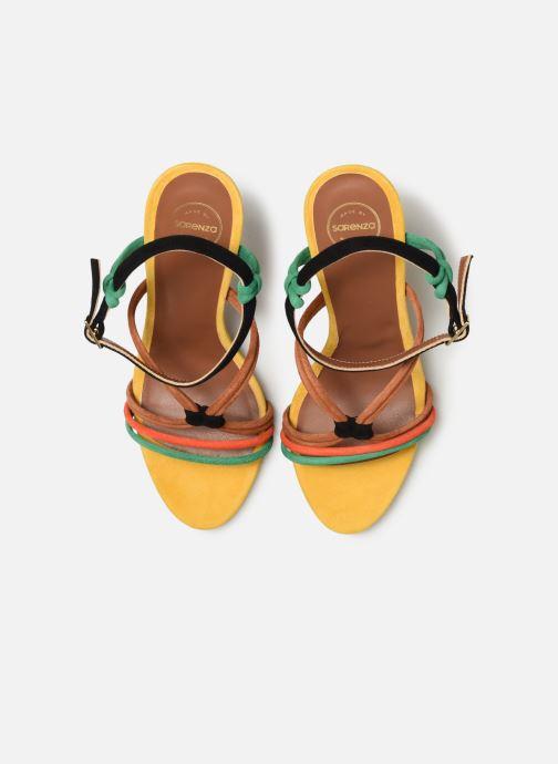 Sandalen Made by SARENZA UrbAfrican Sandales à Talons #7 mehrfarbig schuhe getragen