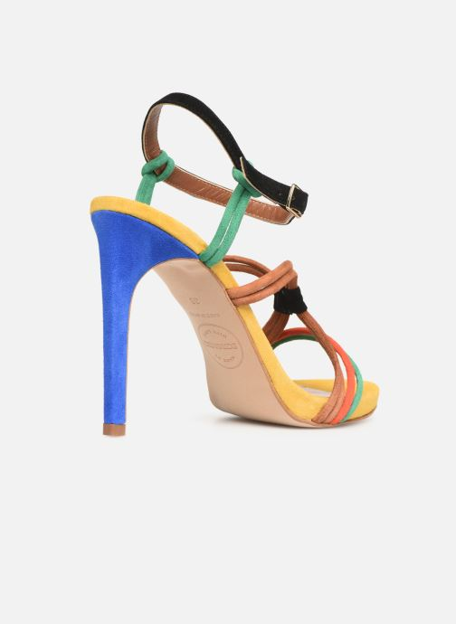 Sandales et nu-pieds Made by SARENZA UrbAfrican Sandales à Talons #7 Multicolore vue face