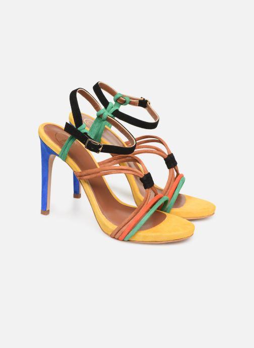Sandales et nu-pieds Made by SARENZA UrbAfrican Sandales à Talons #7 Multicolore vue derrière