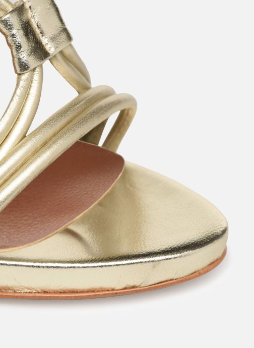 Sandalias Made by SARENZA UrbAfrican Sandales à Talons #7 Oro y bronce vista lateral izquierda