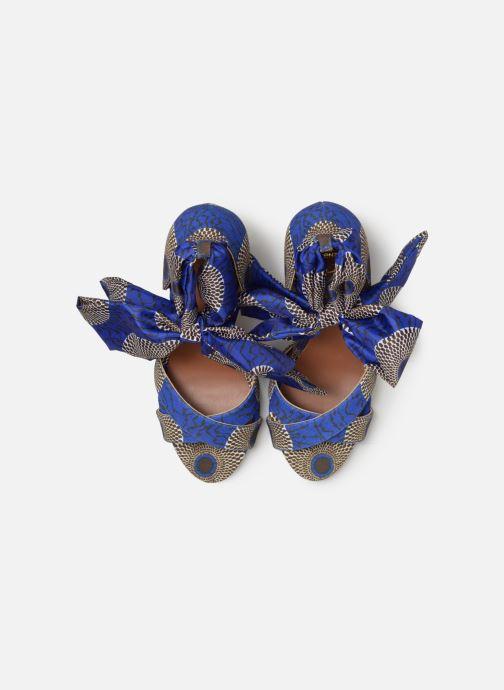 Sandali e scarpe aperte Made by SARENZA UrbAfrican Sandales à Talons #9 Azzurro modello indossato