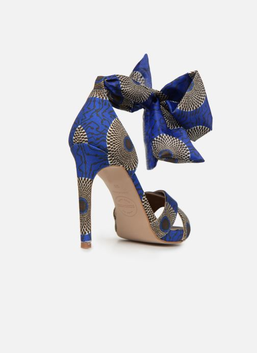Sandales et nu-pieds Made by SARENZA UrbAfrican Sandales à Talons #9 Bleu vue face