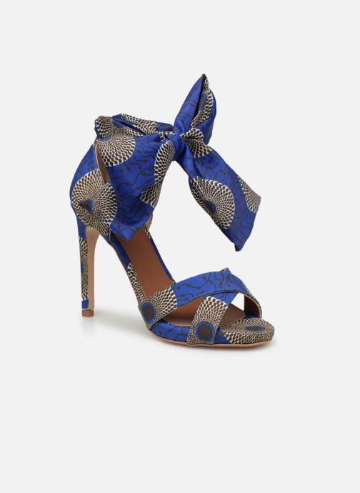 Sandales et nu-pieds Made by SARENZA UrbAfrican Sandales à Talons #9 Bleu vue droite