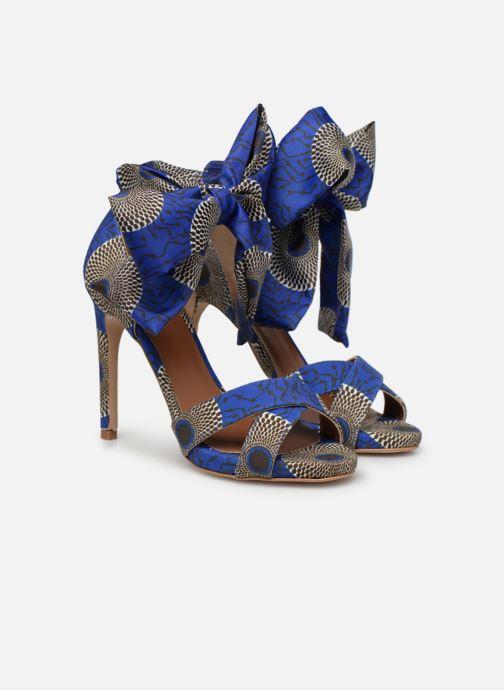 Sandales et nu-pieds Made by SARENZA UrbAfrican Sandales à Talons #9 Bleu vue derrière