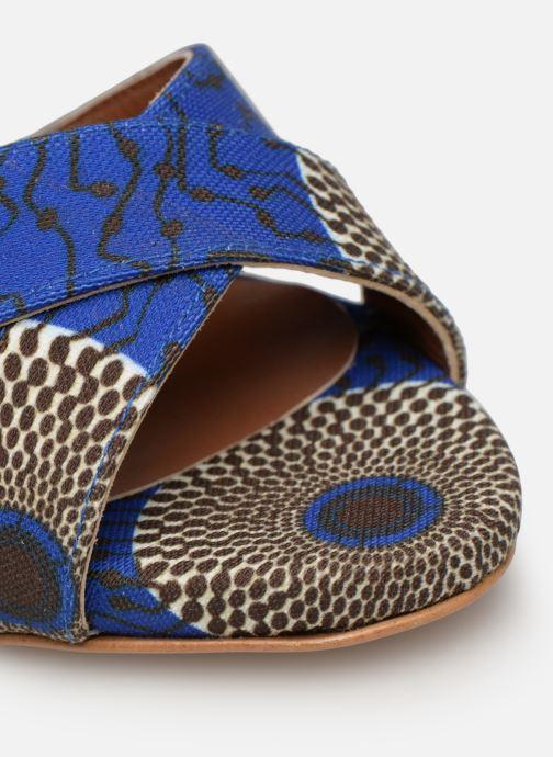Sandali e scarpe aperte Made by SARENZA UrbAfrican Sandales à Talons #9 Azzurro immagine sinistra