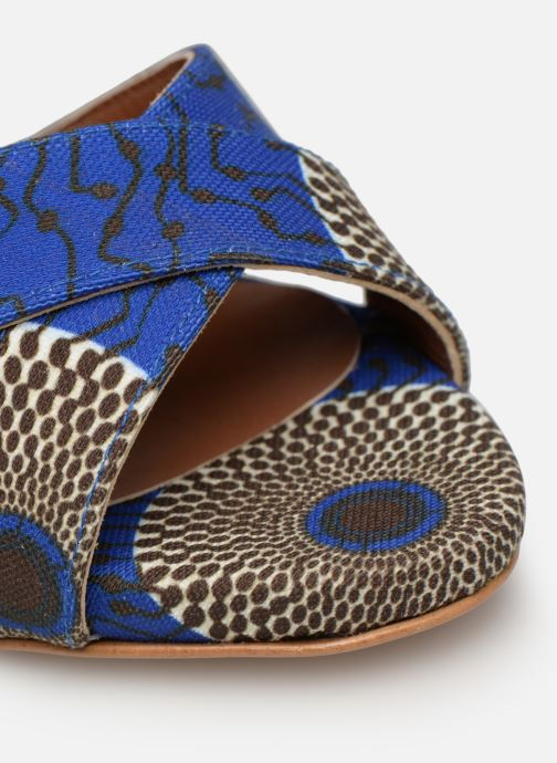Sandales et nu-pieds Made by SARENZA UrbAfrican Sandales à Talons #9 Bleu vue gauche