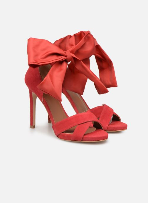 Sandales et nu-pieds Made by SARENZA UrbAfrican Sandales à Talons #9 Rouge vue derrière