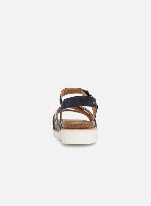 Sandals Mephisto Thina C Blue view from the right