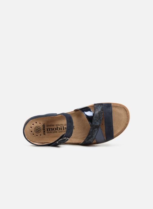 Sandals Mephisto Thina C Blue view from the left