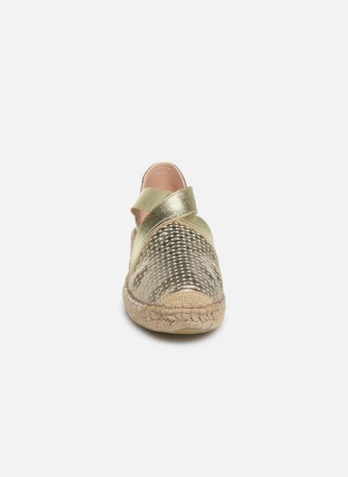 Espadrilles Georgia Rose Zitella Or et bronze vue portées chaussures