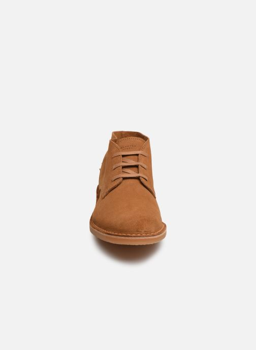 Bottines et boots Selected Homme SLHROYCE DESERT LIGHT SUEDE BOOT W Beige vue portées chaussures