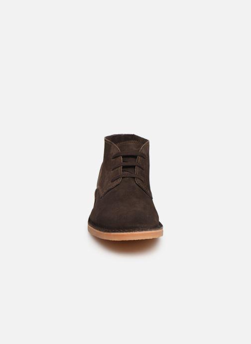 Bottines et boots Selected Homme SLHROYCE DESERT LIGHT SUEDE BOOT W Marron vue portées chaussures
