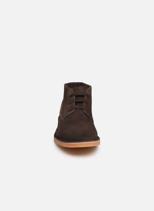 Botines  Selected Homme SLHROYCE DESERT LIGHT SUEDE BOOT W Marrón vista del modelo