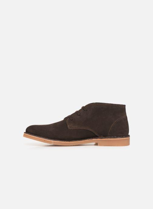 Boots en enkellaarsjes Selected Homme SLHROYCE DESERT LIGHT SUEDE BOOT W Bruin voorkant