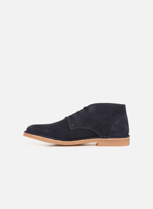 Ankle boots Selected Homme SLHROYCE DESERT LIGHT SUEDE BOOT W Blue front view