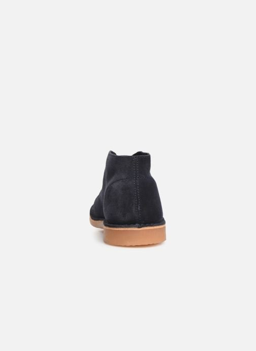 Botines  Selected Homme SLHROYCE DESERT LIGHT SUEDE BOOT W Azul vista lateral derecha