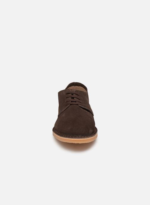 Lace-up shoes Selected Homme SLHROYCE DERBY LIGHT SUEDE SHOE W Brown model view