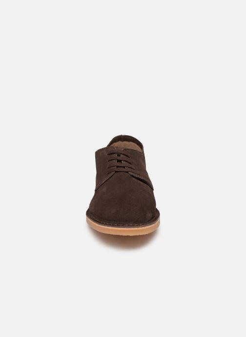 Chaussures à lacets Selected Homme SLHROYCE DERBY LIGHT SUEDE SHOE W Marron vue portées chaussures