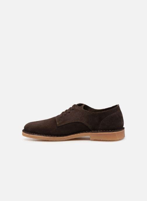 Lace-up shoes Selected Homme SLHROYCE DERBY LIGHT SUEDE SHOE W Brown front view