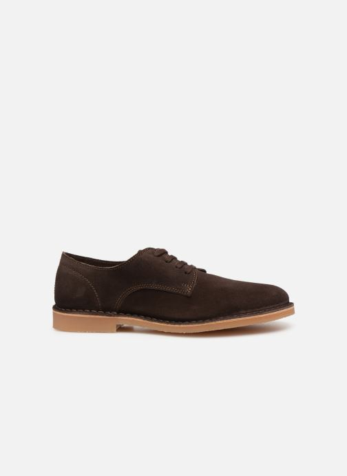 Lace-up shoes Selected Homme SLHROYCE DERBY LIGHT SUEDE SHOE W Brown back view