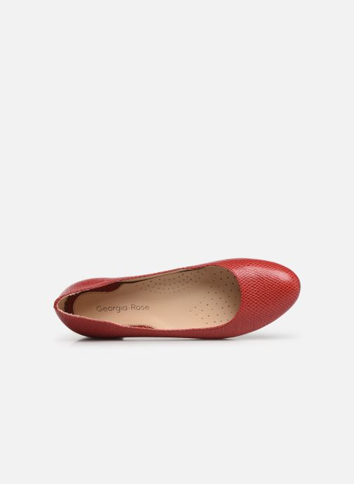 Ballerines Georgia Rose Soft Walia Rouge vue gauche