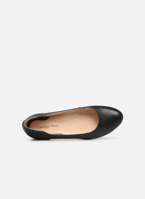 Ballet pumps Georgia Rose Walia Black view from the left