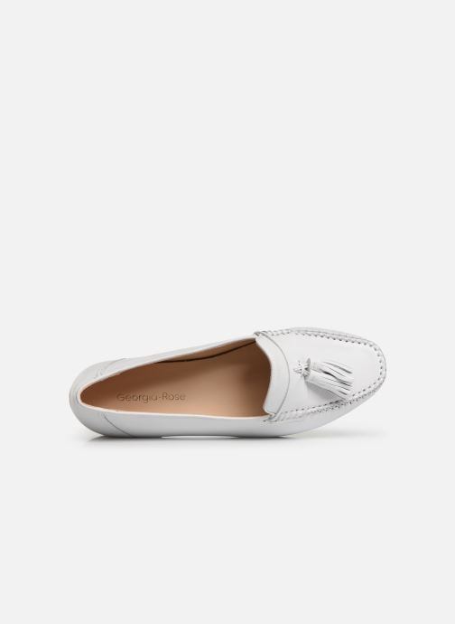 Mocasines Georgia Rose Waleria soft Blanco vista lateral izquierda